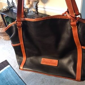 Dooney and bourke pebbled leather shopper
